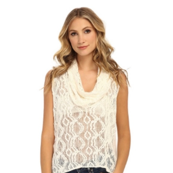"NWOT - FP ""Just like that"" Knit, Crochet Top"
